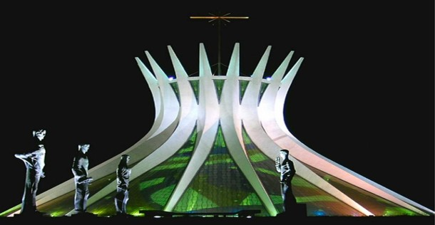 Ο Καθεδρικός της Brasilia, έργο του Oscar Niemeyer